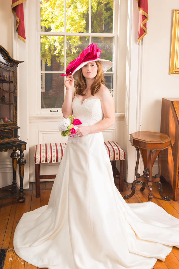 "Rosie Napravnik modeling the ""Brooke"" Chapeau by MAGGIE MAE DESIGNS® - Photo by Unveiled Studio"