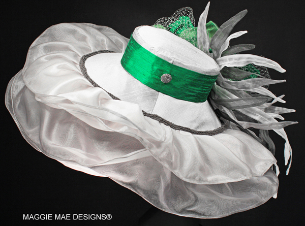 "The ""Silver Charm"" auction hat - ""Hats Off to the Horses"""