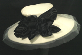 ivory wedding hats