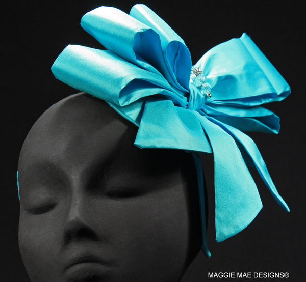 Tiffany Bow hair ornament in silk