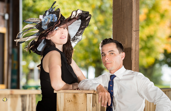 "The ""Touch Gold"" Hat modeled by Emily and Carson Sullivan - Photo by EquiSport Photos"