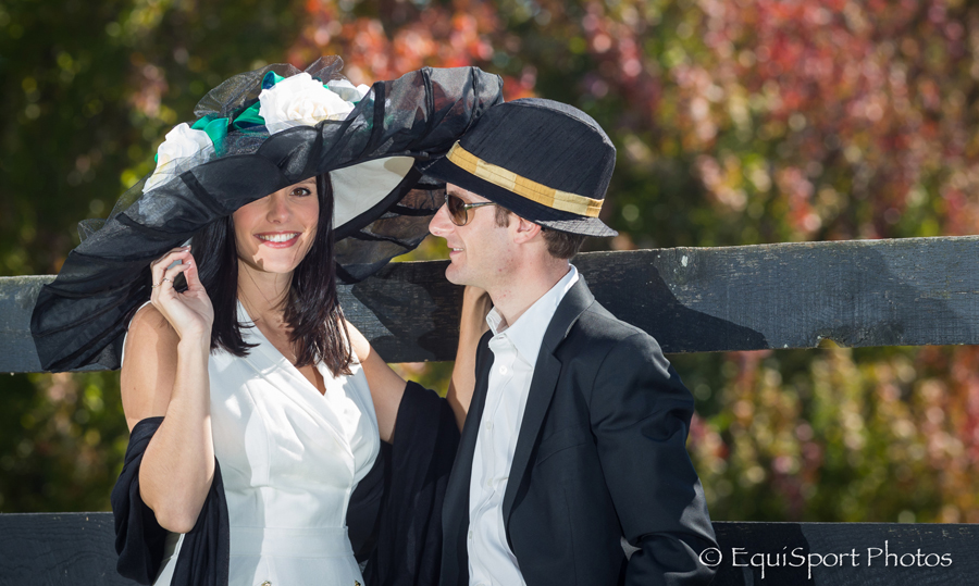"The ""War Emblem"" Hat modeled by Shea and Julien Leparoux - Matt/Wendy Wooley, EquisportPhotos.com"