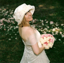 Custom bridal millinery - Sallita Bridal hat