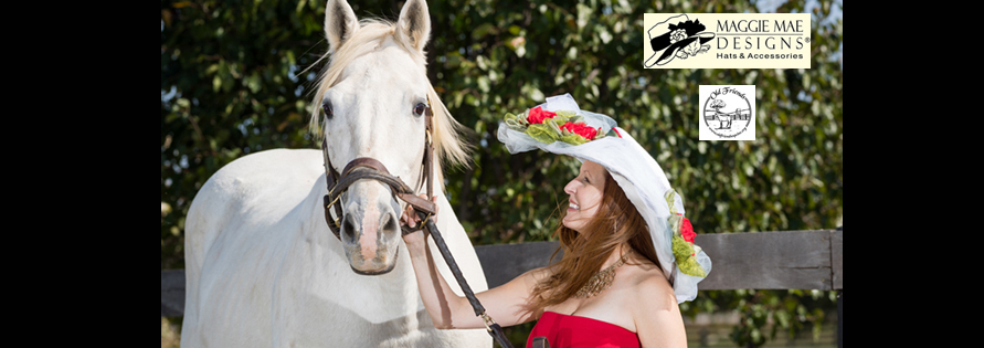 """Hats Off to the Horses"" of Old Friends - 8th Annual Derby hat auction series sponsored by MAGGIE MAE DESIGNS®"