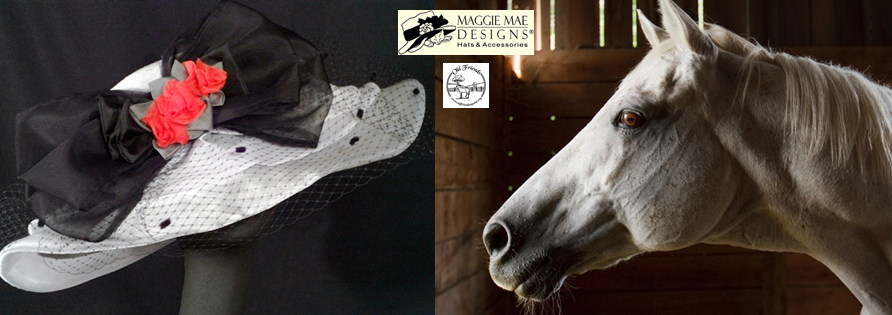 """Hats Off to the Horses"" of Old Friends - First Annual Derby hat auction series sponsored by MAGGIE MAE DESIGNS®"