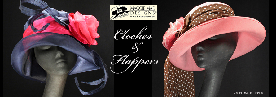 Cloches and Flappers - MAGGIE MAE DESIGNS® Custom Hats for Women -  image