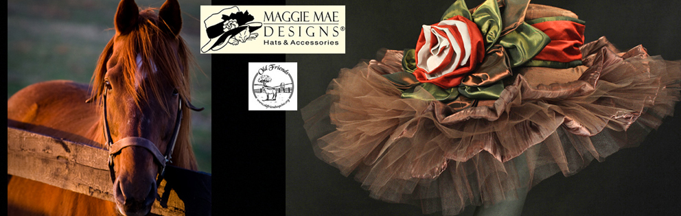 """Hats Off to the Horses"" of Old Friends - 2nd Annual Derby hat auction series sponsored by MAGGIE MAE DESIGNS®"