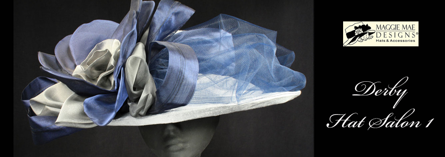 Big wide brimmed hats for the Kentucky Derby at MAGGIE MAE DESIGNS®