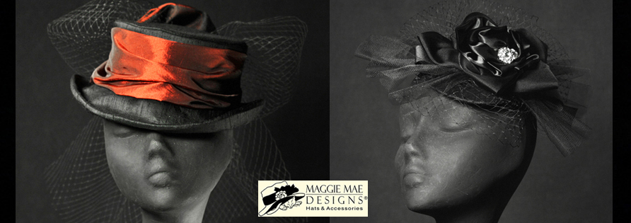 MAGGIE MAE DESIGNS® Custom Hats for Women -  Derby cocktail hats, cloches and fascinators - image