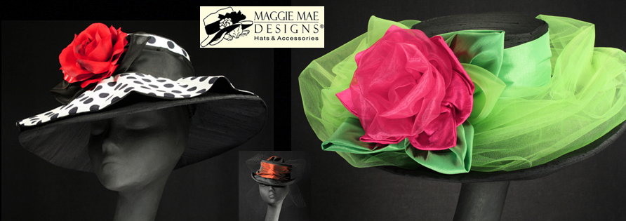 Ladies' Kentucky Derby Hats at MAGGIE MAE DESIGNS®