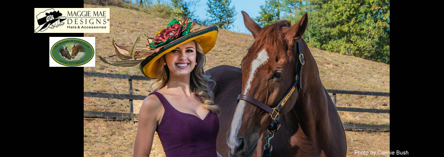 "The ""Mr. Cowboy"" Hat Auction, ""Hats Off to the Horses"" of Old Friends sponsored by MAGGIE MAE DESIGNS®. Photo by Connie Bush of Tiger Eye Photography"