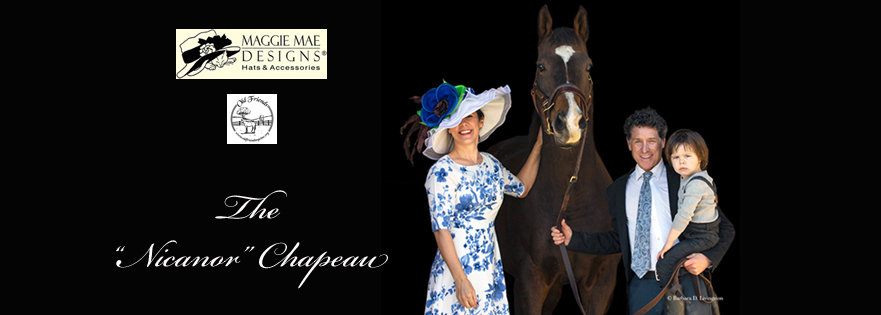 "The ""Nicanor"" Hat Auction, ""Hats Off to the Horses"" of Old Friends sponsored by MAGGIE MAE DESIGNS®. Photo by Barbara D. Livingston"
