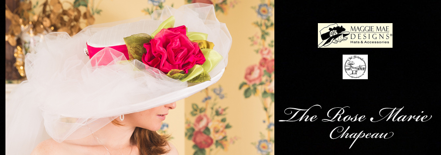 The Rose Marie Chapeau from the Rosie Signature Hat Collection by MAGGIE MAE DESIGNS® - photo by Unveiled Studio