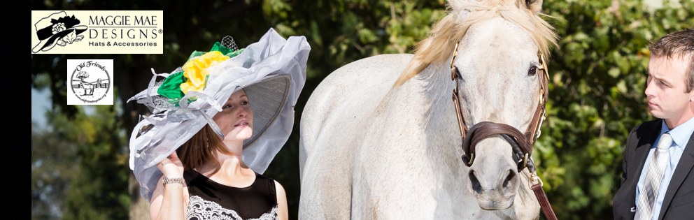 "The ""Silver Charm"" Hat, ""Hats Off to the Horses"" of Old Friends sponsored by MAGGIE MAE DESIGNS® - photo by EquiSport Photos"
