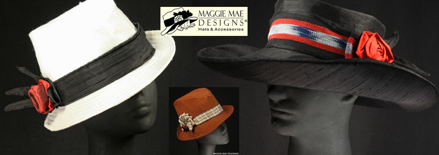 Men's and Women's Derby Hats at MAGGIE MAE DESIGNS®